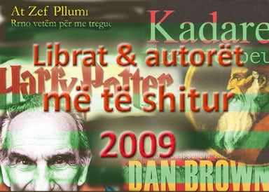 Librat & autorët më të shitur për vitin 2009