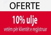 Oferte 10 ulje per klientet e regjistruar (foto)