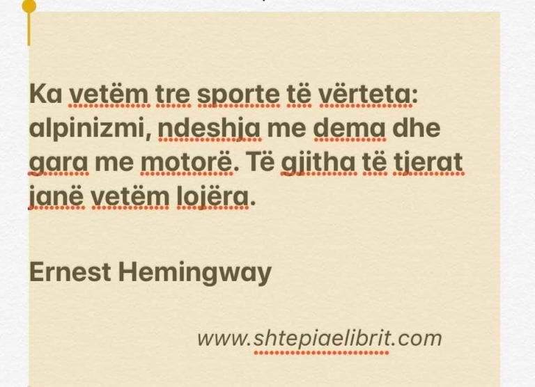 Citime nga Ernest Hemingway