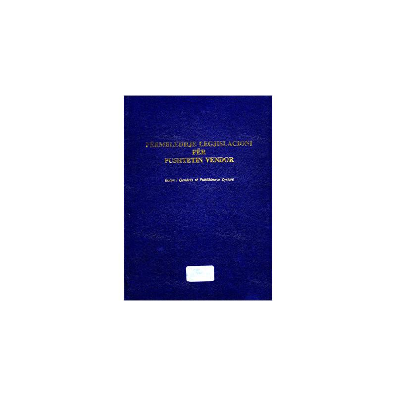 Legjislacioni per Pushtetin Vendor