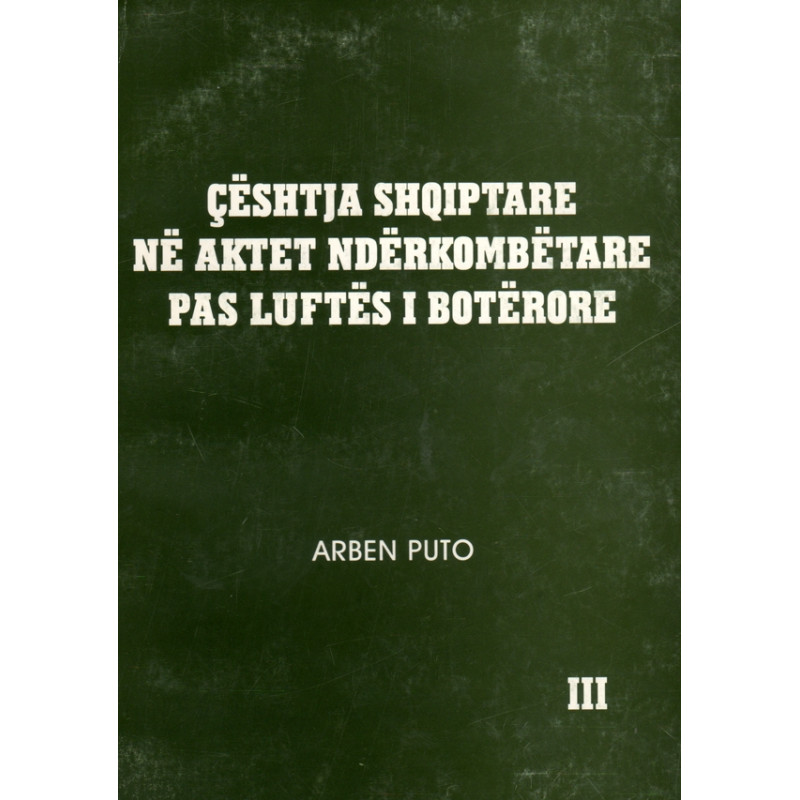 Ceshtja Shqiptare ne aktet nderkombetare pas luftes I boterore