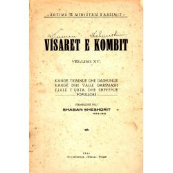 Visaret e kombit, vol XV, 1944