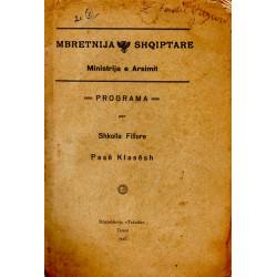 Programa per shkolla fillore pese klasesh, 1928