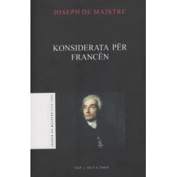 Konsiderata per Francen, Joseph de Maistre