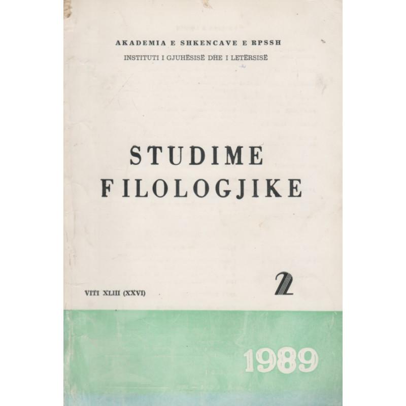 Studime filologjike 1989, vol. 2