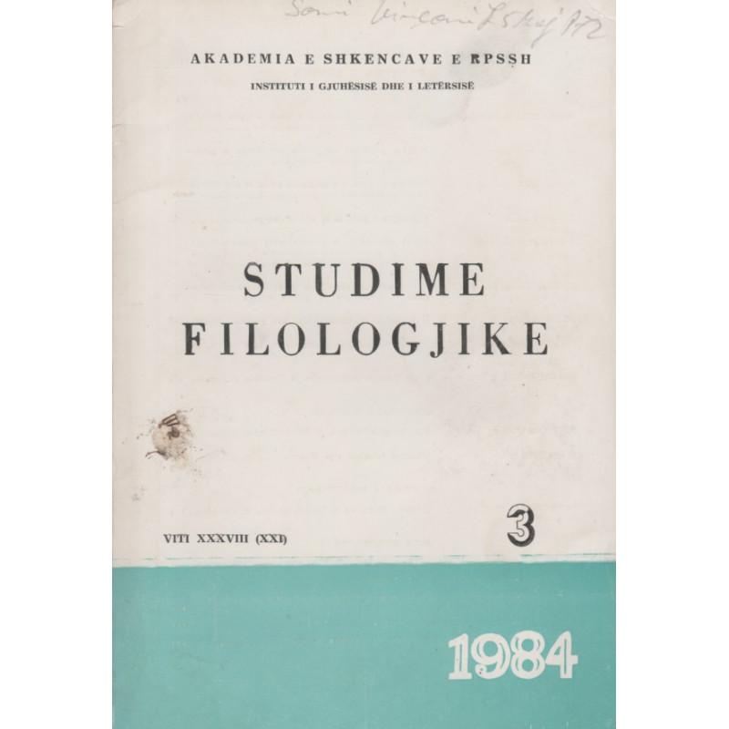 Studime filologjike 1984, vol. 3