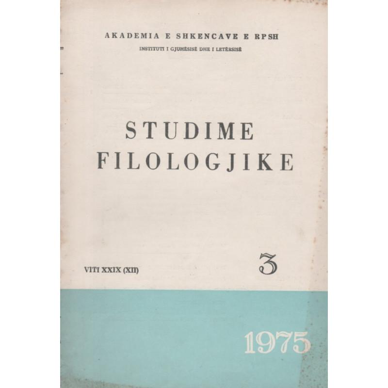 Studime filologjike 1975, vol. 3