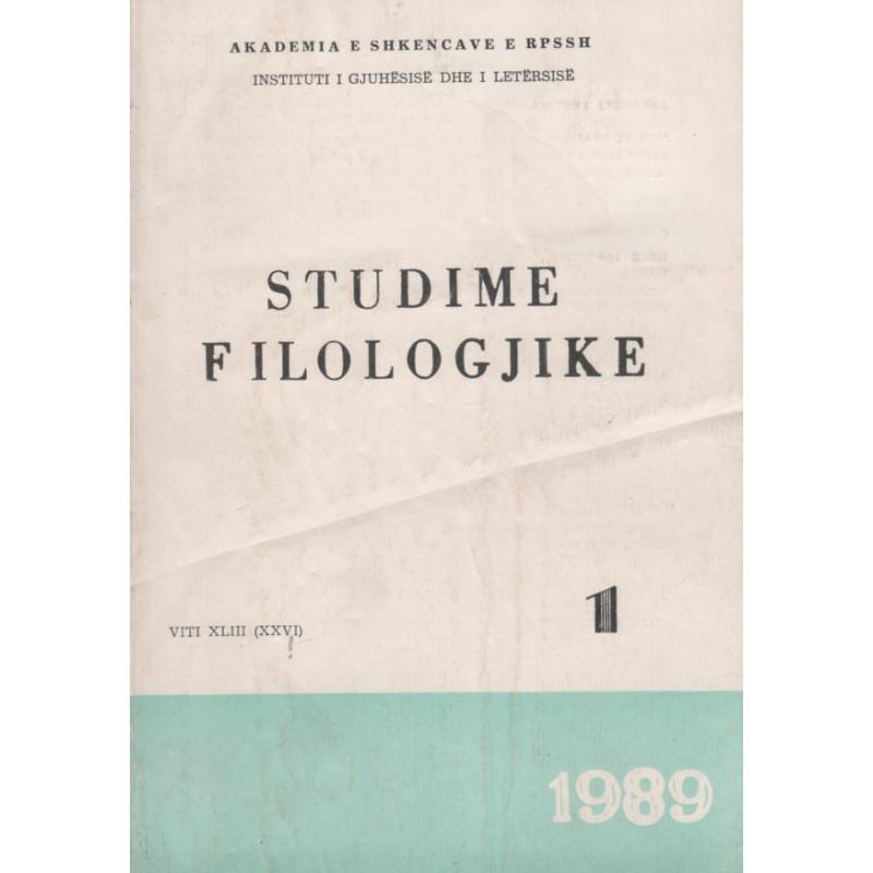 Studime filologjike 1989, vol. 1