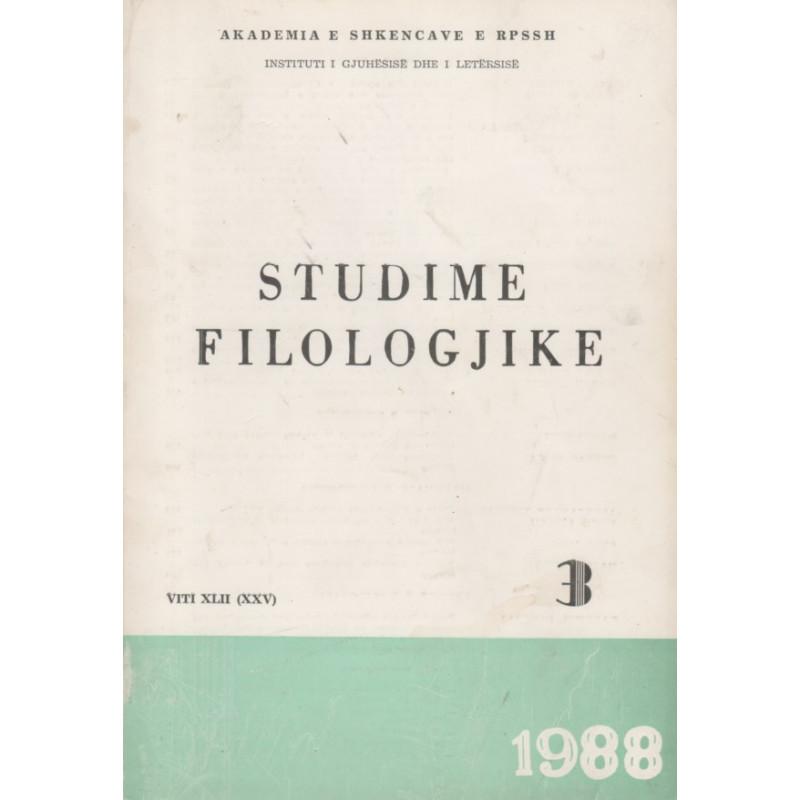 Studime filologjike 1988, vol. 3