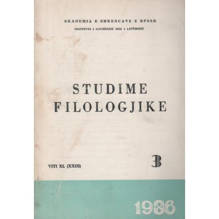 Studime filologjike 1986, vol. 3
