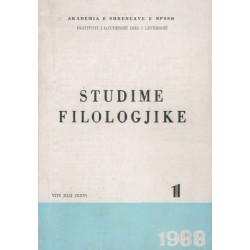 Studime filologjike 1988, vol. 1