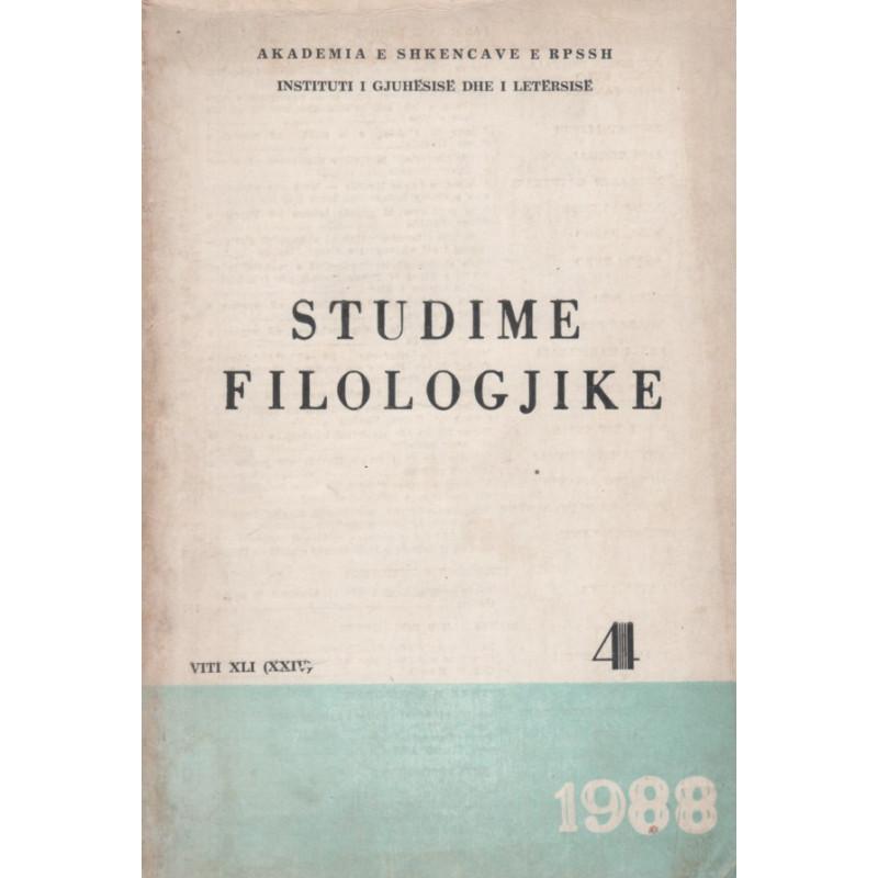Studime filologjike 1988, vol. 4