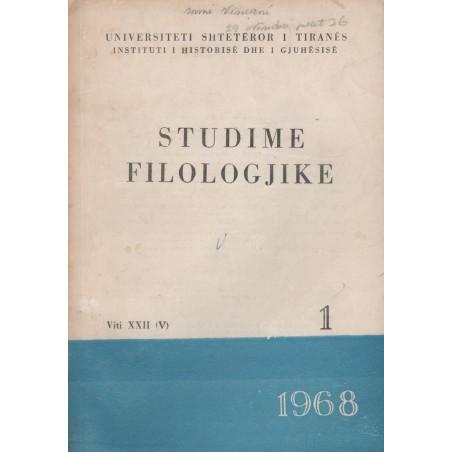 Studime filologjike 1968, vol. 1