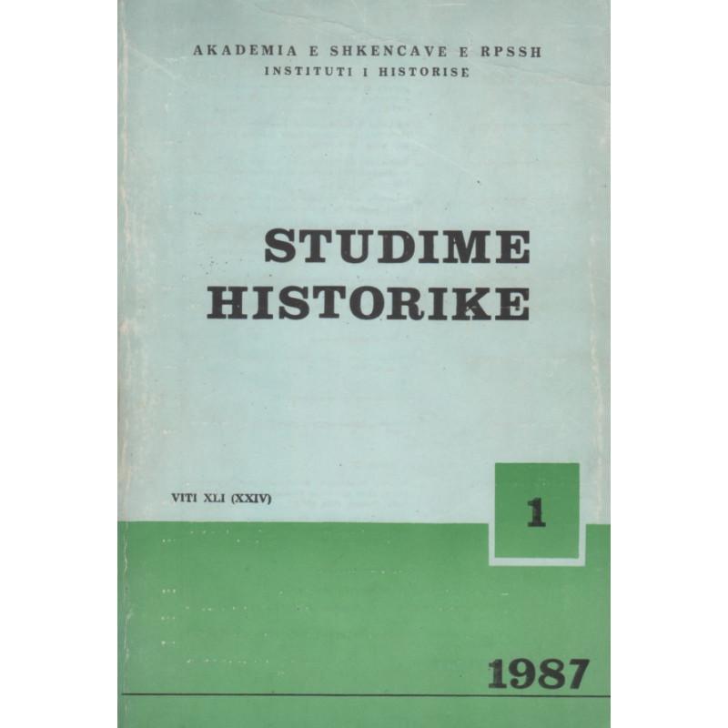Studime historike 1987, vol. 1