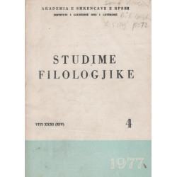 Studime filologjike 1977, vol. 4