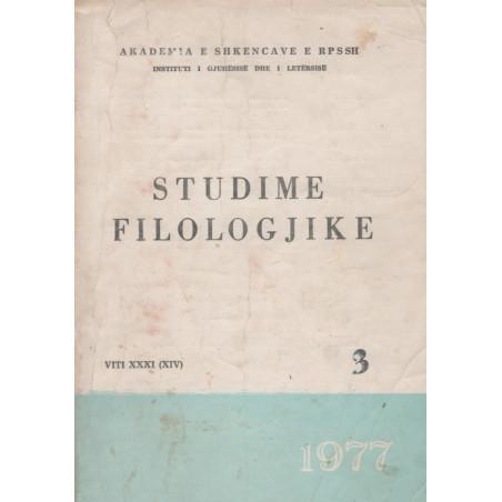 Studime filologjike 1977, vol. 3