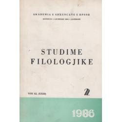 Studime filologjike 1986, vol. 2