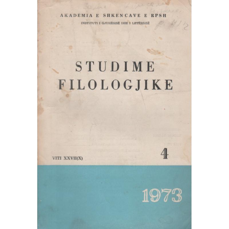 Studime filologjike 1973, vol. 4