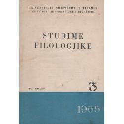 Studime filologjike 1966, vol. 3