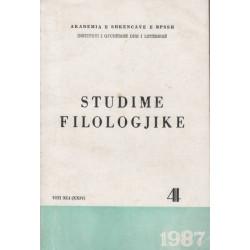 Studime filologjike 1987, vol. 4
