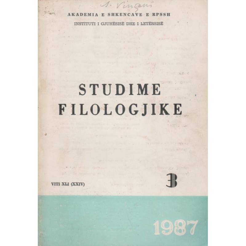 Studime filologjike 1987, vol. 3