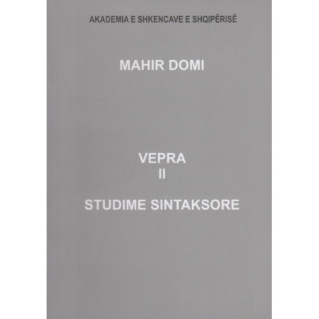 Vepra sintaksore, Mahir Domi, vol. 2