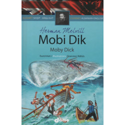 Moby Dick, Herman Melvill, Classics Albanian-English