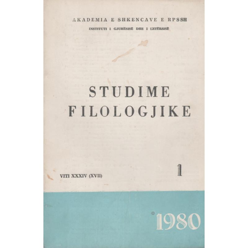 Studime Filologjike 1980, vol. 1