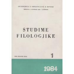 Studime Filologjike 1984, vol. 1
