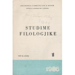 Studime Filologjike 1986, vol. 1