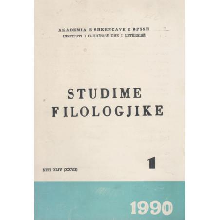 Studime Filologjike 1990, vol. 1