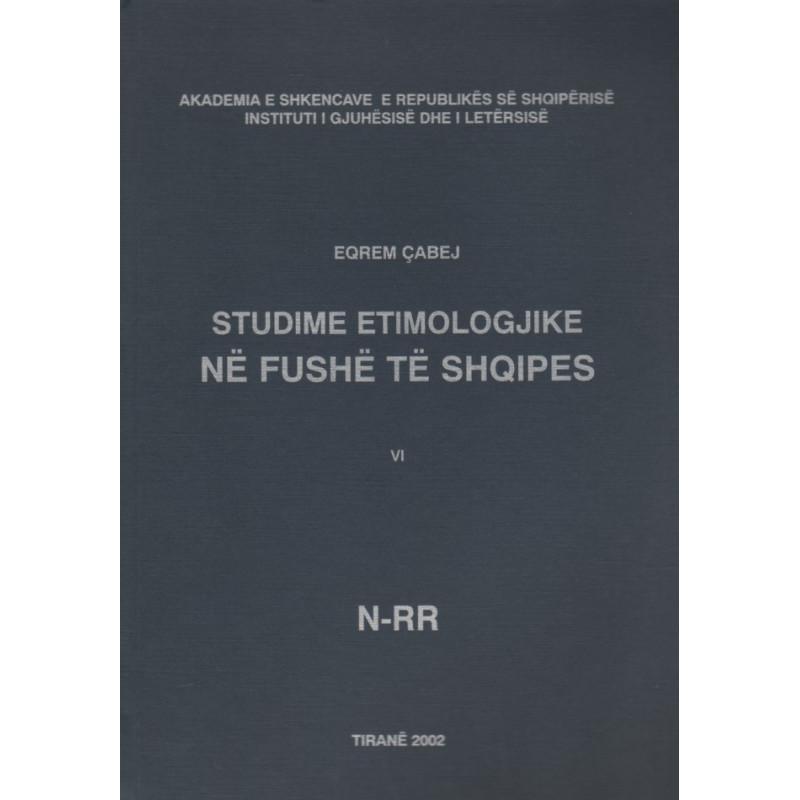 Studime etimologjike, vol. 6, Eqrem Cabej
